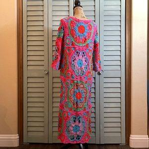 Belle France Woven High-Low Crochet Dress/Top